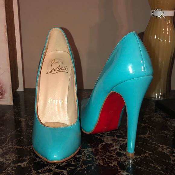 3cc0ef699ee Christian Louboutin Shoes | Turquoise Red Bottom Heels | Poshmark